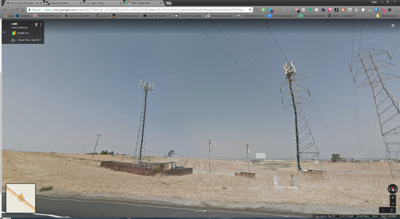 Antennas On power lines Tracy, California